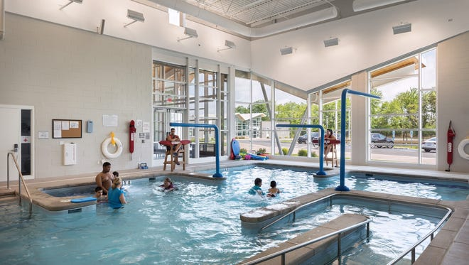 Young people enjoy the instructional pool inside the Raymond & Joanne Welsh Campus in Mt. Laurel,  iswhere water safety instruction a part of our curriculum and daily lives.
