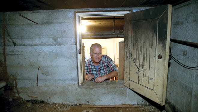 Inside a crawl space within Glenn and Lori Stockton's home is a window into the history of World War II Bremerton. It appears their home was a training spot for air raid wardens, workers who lived on every block in the city and trained to ensure all was dark in the event of an air assault on Bremerton.
