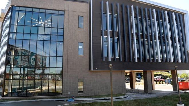 The new York Academy school building will open in August for eighth and ninth grade students, Thursday, July 19, 2018. John A. Pavoncello