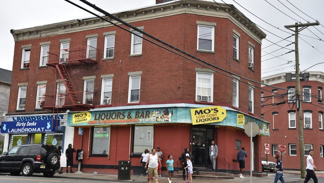 Mo's Liquor store at the corner of Main and Weiss streets in Paterson. The city's Alcoholic Beverage Control imposed a 200-day license suspension that is scheduled to take effect on July 30.