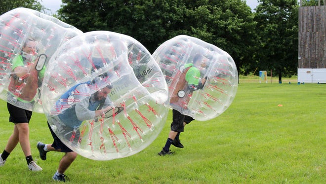 Bubble soccer offered by All-In BubbleBallin.