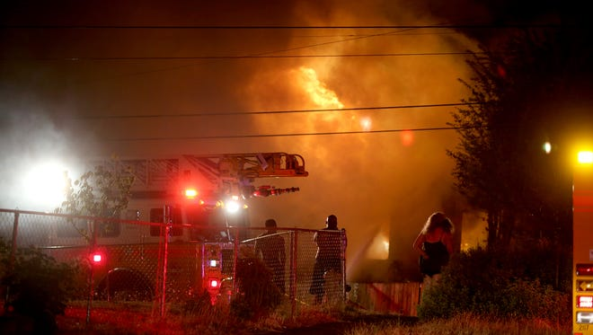 A late night fire Monday at Fifth Street and Chester in Bremerton.