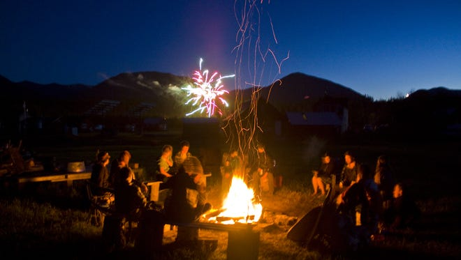 A campfire is a great place to share ghost stories.