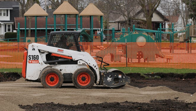 City of Oshkosh and Dresens Deck and Patio are starting to construct the new inclusive playground in South Park. The Oshkosh community raised funds to make the playground a reality.
