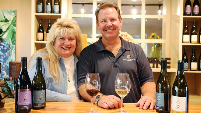 Peggy Fiandaca and  Curt Dunham are opening Lawrence Dunham Vineyards Wine Gallery in Scottsdale.