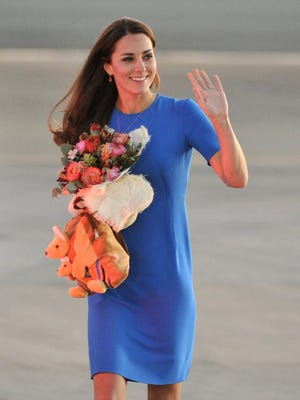 Duchess Kate arrives in Canberra on April 20 during Down Under tour.