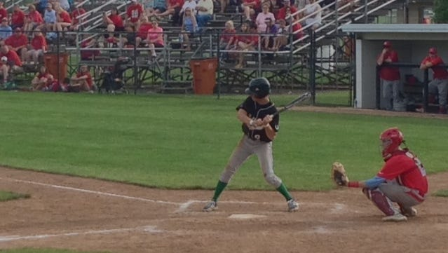 Clear Fork's Thomas Staab takes a swing against an Eastwood pitcher at the D-III Regional semifinals on Thursday.