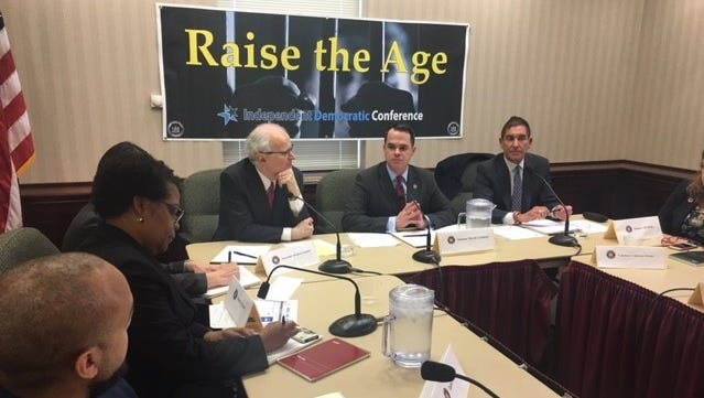 A former state judge, lawmakers and advocates gathered Tuesday in the hometown of Sing Sing prison to urge support for raising the age of criminal responsibility in New York State to 18 years old from the current 16.