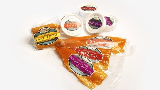 Fish products, including sausage, smoked fish and fish spread, are a specialty for Mackinac Straits Fish Company.