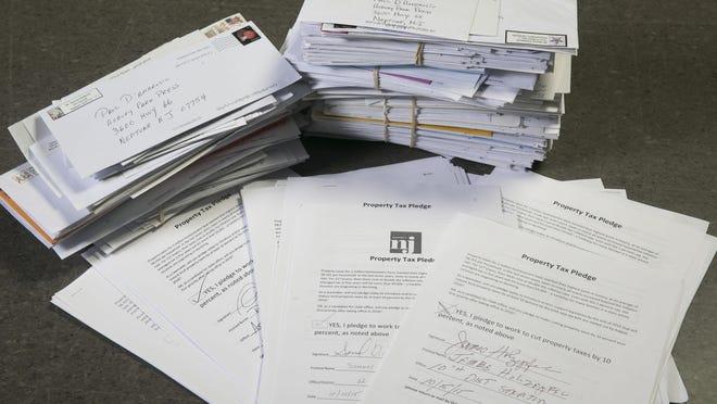 Property Tax pledge and reader letters —October 18, 2016-Neptune, NJ.-Staff photographer/Bob Bielk/Asbury Park Press