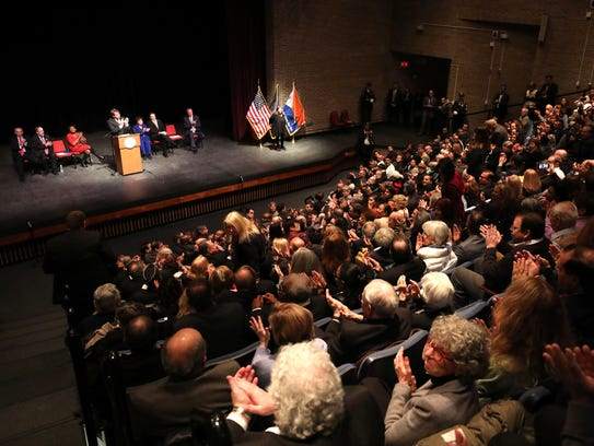 Westchester County Executive George Latimer applauds