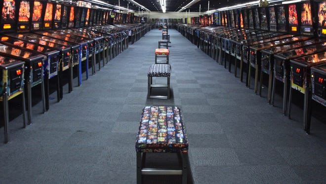The Museum of Pinball in Banning, Calif. Founder Jonathan Weeks is planning a possible move to Palm Springs, Calif.