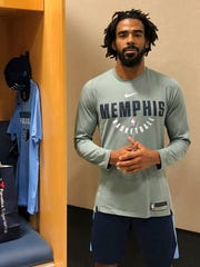 "Memphis Grizzlies guard Mike Conley talks about the influence on today's society of civil rights leader Martin Luther King Jr.  in Memphis, Tenn. When Dr. Martin Luther King Jr. said returning hate for hate multiplies hate, adding deeper darkness to a night devoid of stars, he wasn't thinking of the world in 2018. More than a half-century later, amid contentious political fights, one of King's memorable quotes from his book ""Strength to Love"" remains relevant. Tuesday, Jan. 9, 2018 photo,"