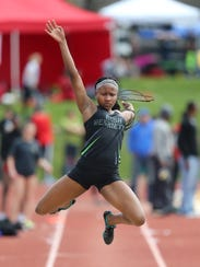 Rush-Henrietta's Lanae-Tava Thomas hopes to face other long jumpers who can launch themselves 20 feet or more during the 2018 Penn Relays.
