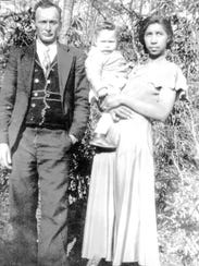 Wallace Lynch, born in 1935,  with his parents Blanch