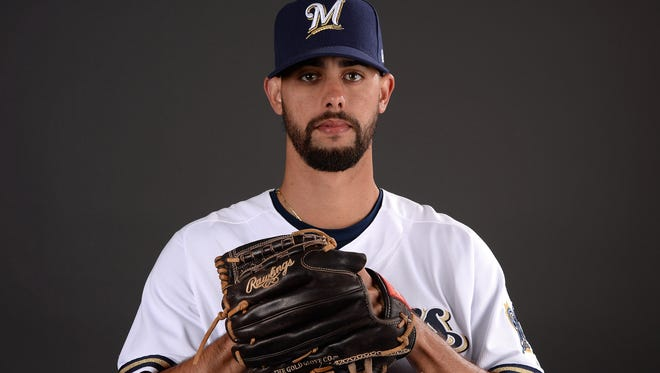 Jorge Lopez was selected by the Brewers out of high school in the second round of the 2011 draft.