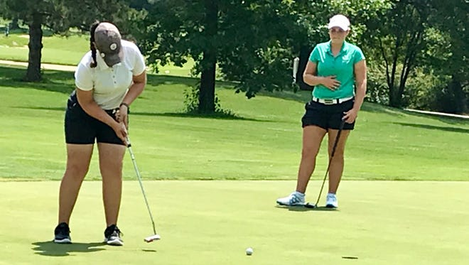 Mount Gilead's Mallory Graham putts the ball during the final round of the Ohio Junior Girls Championship at Marion Country Club two years ago. The tourney is coming back to Marion Monday and Tuesday for a 44th straight time.