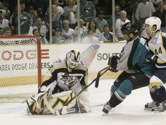 The Predators lost to the Sharks in a first-round series