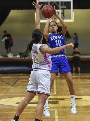 The George Washington Geckos hosted the Notre Dame Royals in an Independent Interscholastic Athletic Association of Guam Girls' Basketball League game at GW on Nov. 24.