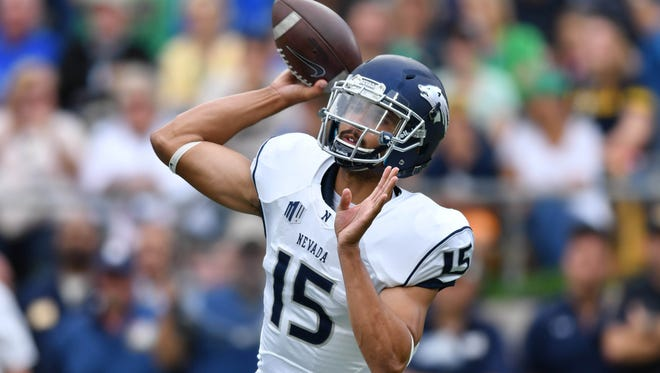 Wolf Pack quarterback Tyler Stewart is out for the season with a shoulder injury.