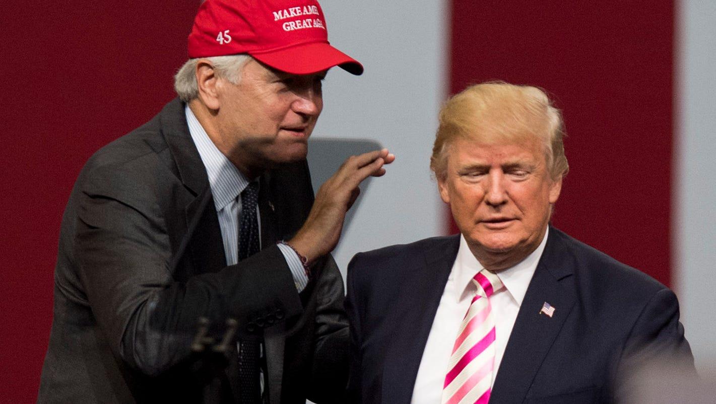 Trump praises Sen. Luther Strange in Alabama, silent on Sen. John McCain's latest vow