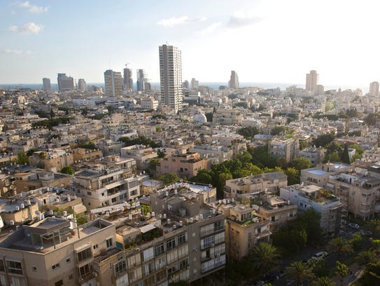 This June 21, 2017 photo shows a view of Tel Aviv,