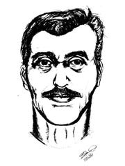 Artist sketch of suspect in an abduction
