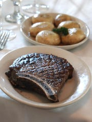 A cowboy ribeye steak at the Sparkill Steakhouse Sept. 13, 2013.