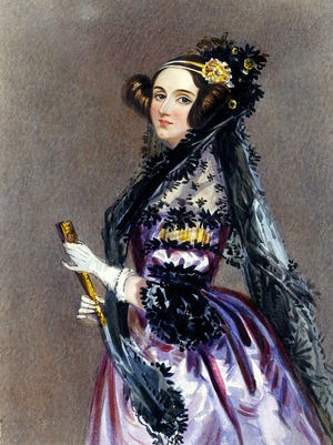 Ada, Countess of Lovelace portrait by Sir Henry Norris, 1840