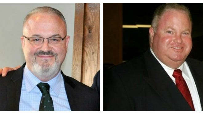 From left, Carlos Da Silva, Michael Bradley, Greg Hanley and Jack Riordan, are candidates in the Democratic primary for two open seats on the  Plymouth County Commission.