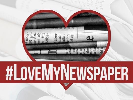 #LoveMyNewspaper