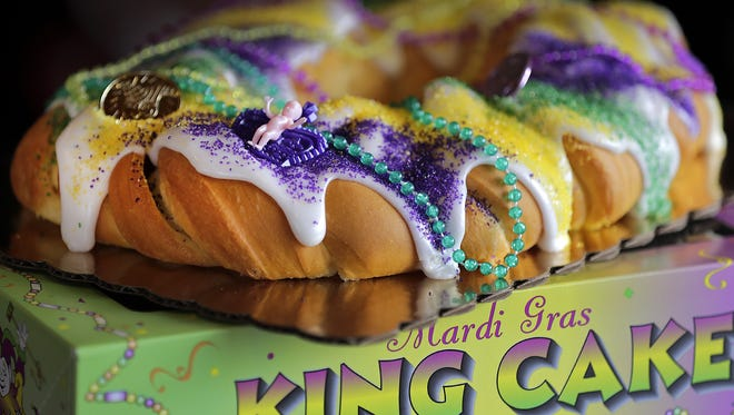 Manderfield's Home Bakery will make 250 king cakes for Mardi Gras.