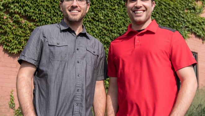 Michael Pignataro, left, and his twin brother, Steven Pignataro, are co-CEOs of 'corePHP' in Battle Creek.