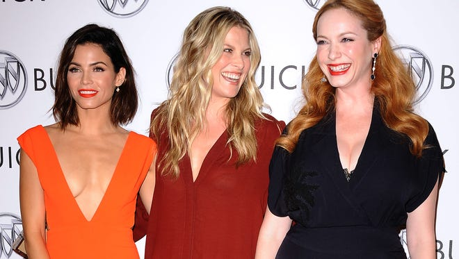 """Actresses Jenna Dewan Tatum, Ali Larter and Christina Hendricks attend the Buick """"24 Hours Of Happiness"""" test drive launch event at Ace Museum in Los Angeles"""