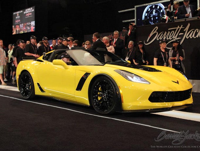 A 2015 Chevrolet Corvette Z06 2-door coupe