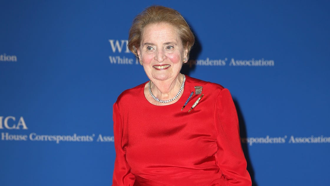 story life people albright gives trump talks gilmore girls correspondents dinner