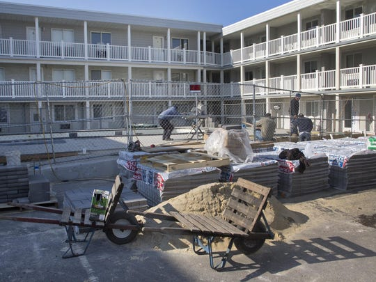 Work continues on the Waldorf condominium complex in