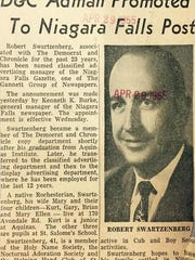 MaryEllen Elia's father, Robert Swartzenberg, was an advertising executive for the Democrat and Chronicle from 1932 to 1955.