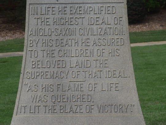 White Supremacist Monument