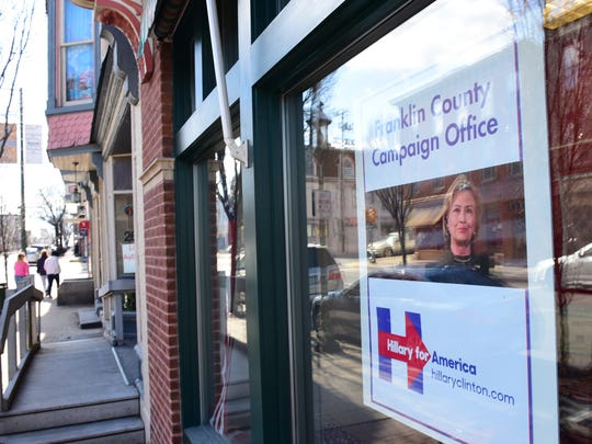 The local Hillary Clinton presidential campaign headquarters is set to open at 159 S. Main St., Chambersburg.