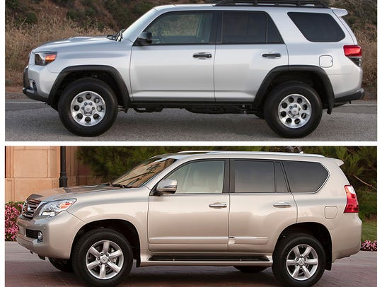 This combo of photos provided by Toyota shows a 2013