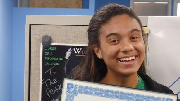 Zoe Maxwell, a senior on Irvington's girls soccer team,