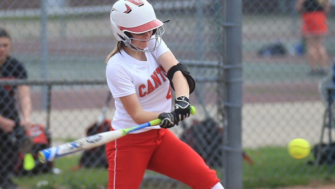 Izzy Dawson, shown from last season, delivered a key two-run homer in Tuesday's pre-district win over Salem.