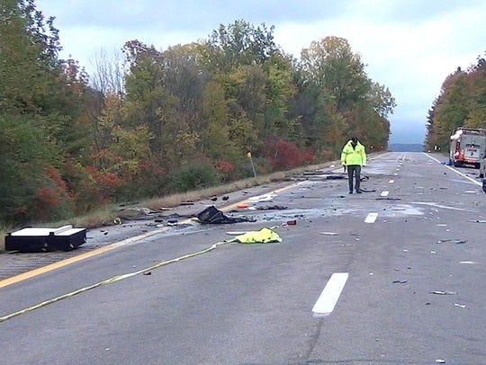 Cpl. Daniel Marcellus investigates a crash that killed