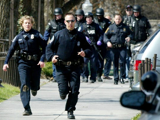 In this April 16, 2007 file photo, Blacksburg police