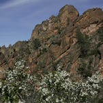 The High Peaks at the Pinnacles National Monument viewed from Juniper Canyon Trail.
