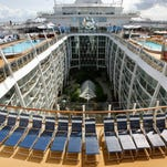 The cruise ship Oasis of the Seas docked at Port Everglades in Ft. Lauderdale, Fla.