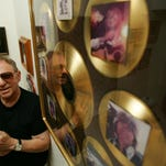 Drummer Hal Blaine, shown with several of his gold records in 2007, is scheduled to speak at Cinemas Palme d'Or at 6 p.m. Friday at a screening of a documentary about his studio music group.