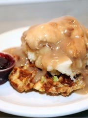 The Jive Turkey from Funk 'n Waffles is based on a stuffing waffle.