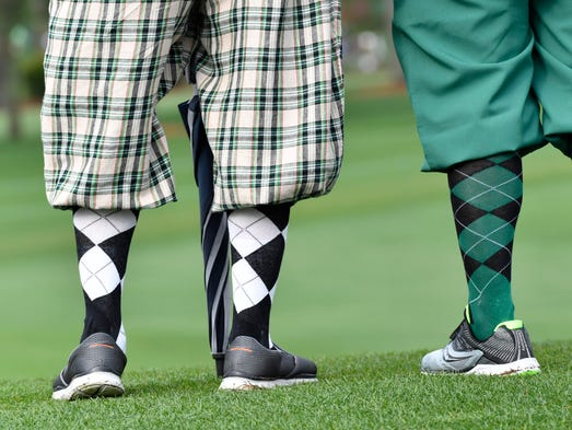 Patrons show off their socks during Wednesday's practice